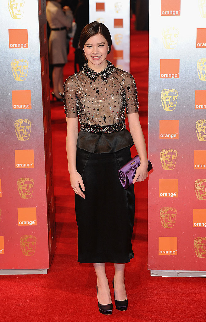 In crystal-embellished Miu Miu for this year's BAFTA Awards.