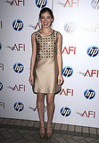 A metallic, studded Chloe dress for the AFI Awards.