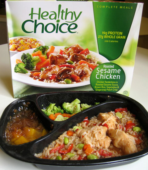 Healthy choice roasted sesame chicken food review for Are lean cuisine healthy