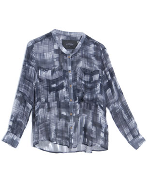 Rachel Comey Silk Plaid Print Assembly Button Top ($365)