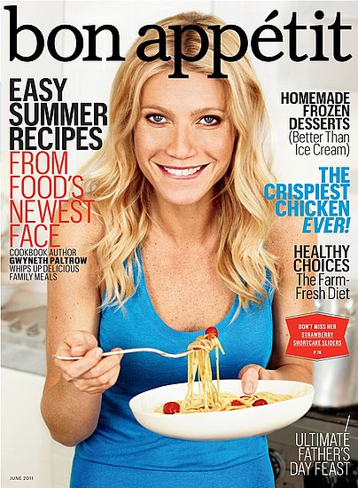 Gwyneth Paltrow Cooks and Talks Magazines, Bathing, Food With Bon Appétit