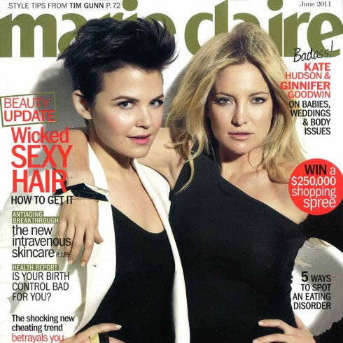 Pictures of Ginnifer Goodwin and Kate Hudson in Marie Claire