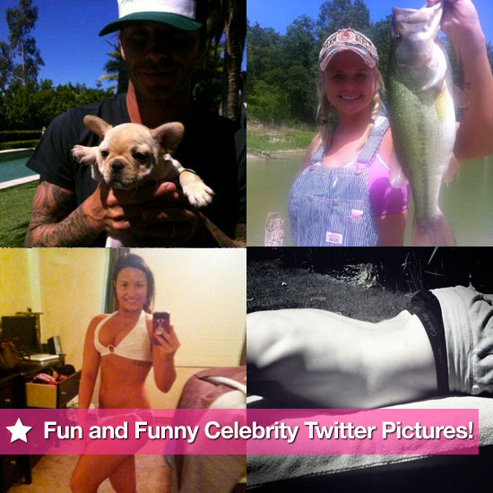 David Beckham, Jessica Alba, Miranda Lambert, Demi Lovato, and More in This Week's Fun and Funny Celebrity Twitter Pictures!