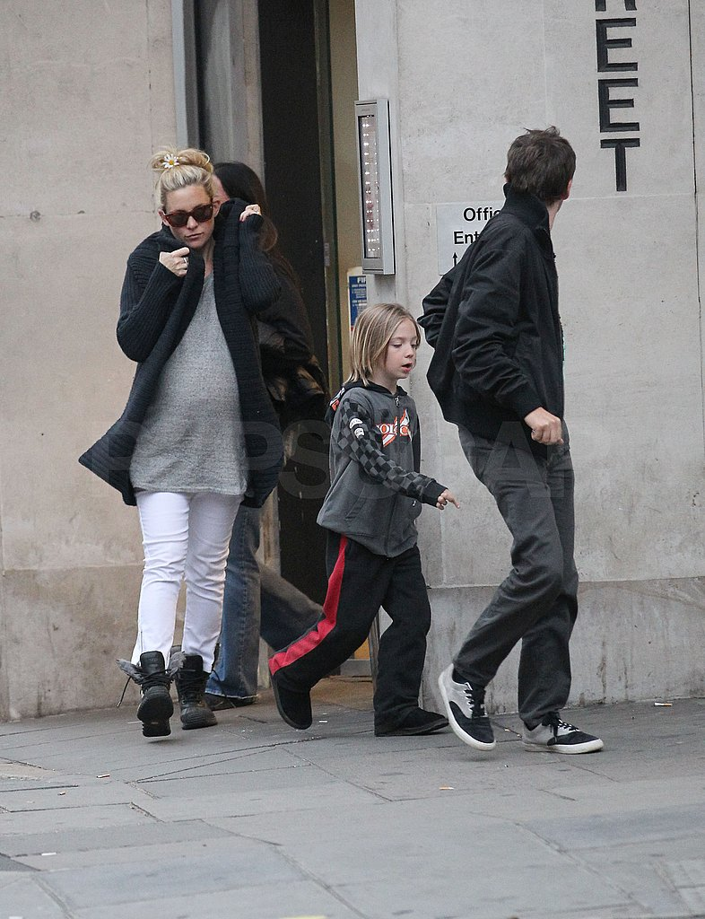 Kate Hudson Takes Matthew, Ryder, and Her Bump to a London Lunch