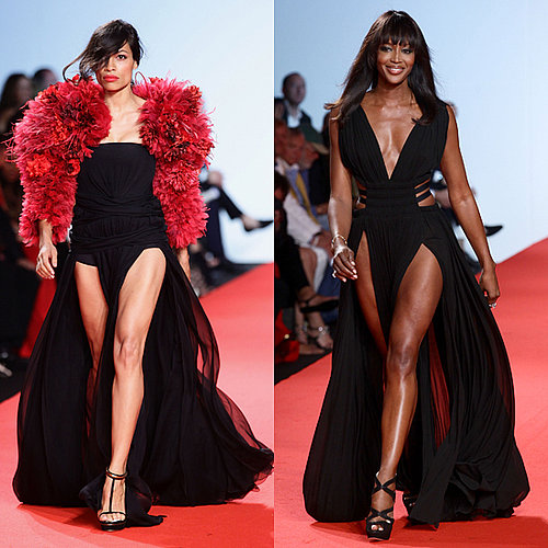 Rosario Dawson and Naomi Campbell in Fashion For Relief Show 2011-05-18 08:40:27