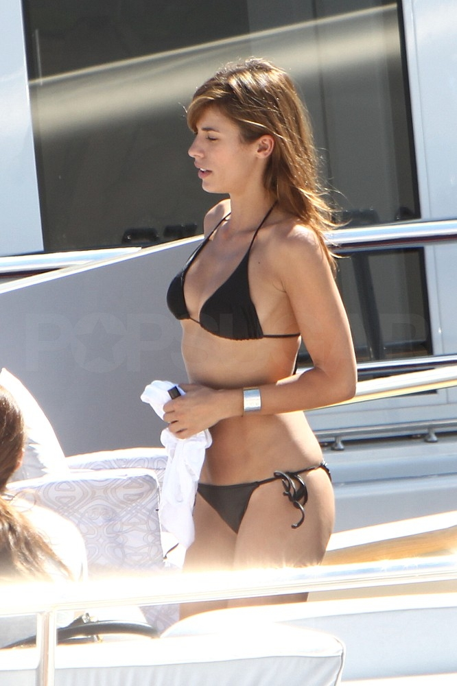 Elisabetta Canalis Wraps Up Cannes in a Tiny Black Bikini