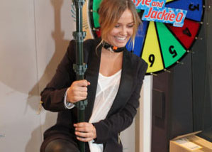Video of Lara Bingle and Emma Duxbury Pole Dancing For Kyle Sandilands on the Kyle and Jackie O Show