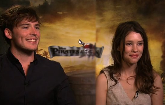 Video Sam Claflin and Astrid Berg sFrisbey Talk Pirates and Working With