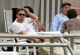 Leonardo DiCaprio Shows Some Ab During a Day of Poker, Pushups, and Cigars With His Boys
