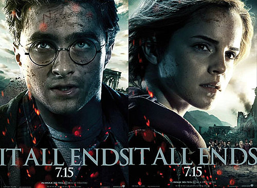 New Harry Potter and the Deathly Hallows Part 2 Movie Posters With Daniel Radcliffe and Emma Watson