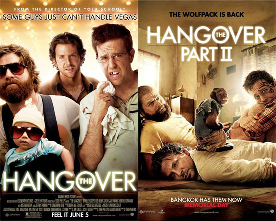 The Hangover Movie Posters: Then and Now