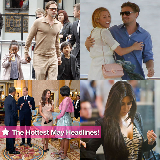 The Obamas Meet Kate and Will, the Jolie-Pitts Hit a Premiere, and Kim's 20.5-Carat Engagement Ring: The Hottest May Headlines!