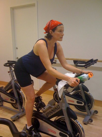 MamaCycle founder Alli Joseph on the bike @ 6 mos pregnant