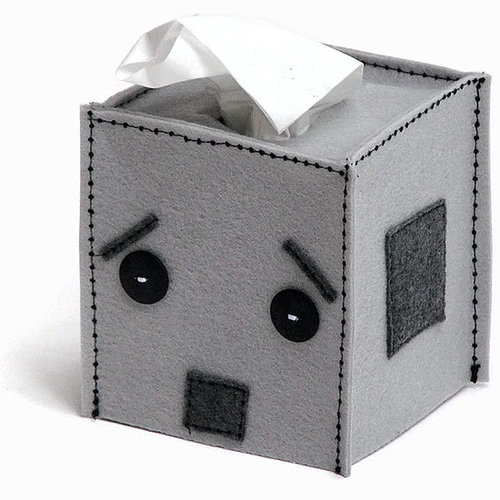 Minecraft and Robot Tissue Box Covers by Snotty Bots