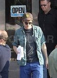Robert Pattinson Goes Casual Ahead of Another Long Day on Set