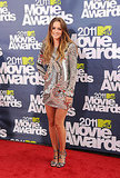 Leighton Meester Rocks the Same Designer as Kristen Stewart to the MTV Movie Awards