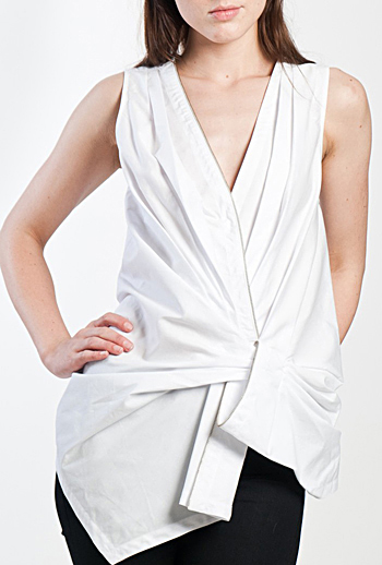 Alexander Wang Draped Sleeveless Top Otte, $385