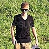 Justin Bieber and Selena Gomez Pictures at a Park With His Dad