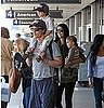 Matthew McConaughey Arriving at LAX With Vida, Levi, and Camila Alves Pictures