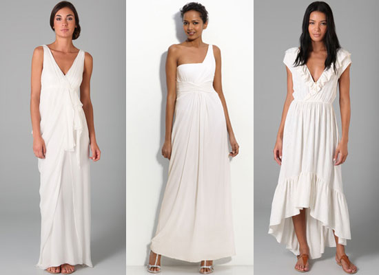 Fab&#039;s Top Ten Beach Wedding Dresses Narciso Rodriguez BCBG Max Azria Collette Dinnigan
