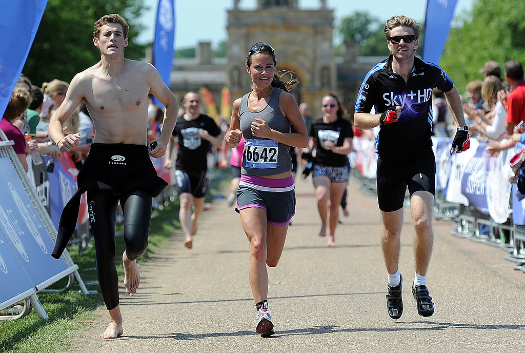 Pippa Middleton Crosses the Finish Line in a Triathlon!