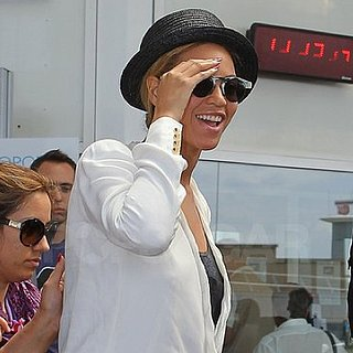 Beyoncé Knowles Landing at the Airport in Nice, France