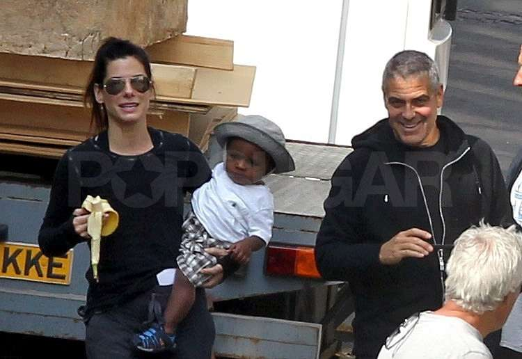George Clooney Snaps Pictures and Dotes on Sandra's Little Louis