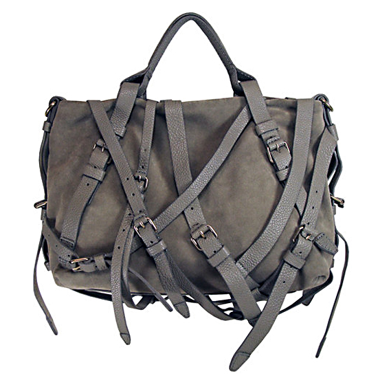Alexander Wang Kirsten Suede Satchel In Dove Grey, $825