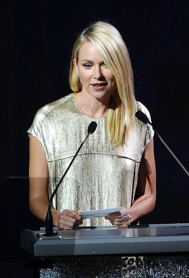 "Naomi Watts — who presented Womenswear Designer of the Year to Proenza Schouler — quipped after she walked onstage, ""That was fun, doing it in front of supermodels."""