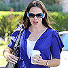 Jennifer Garner and a Friend at Tavern in Brentwood