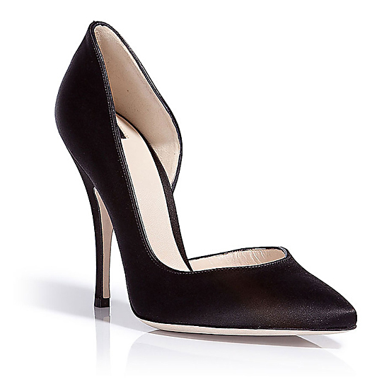 D&G Black Satin Pumps, $360