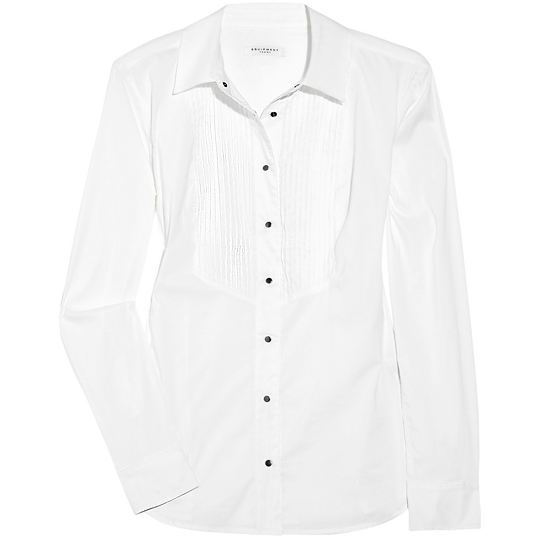 Equipment Deans List Tuxedo Shirt, $190