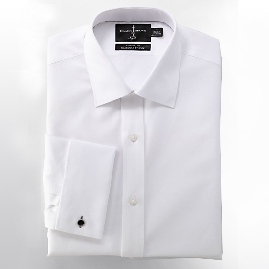 Black Brown 1826 White Tuxedo Shirt, $59