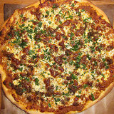 Lamb Sausage Pizza