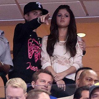 Justin Bieber and Selena Gomez Kissing Pictures at a Basketball Game 2011-06-08 06:02:36