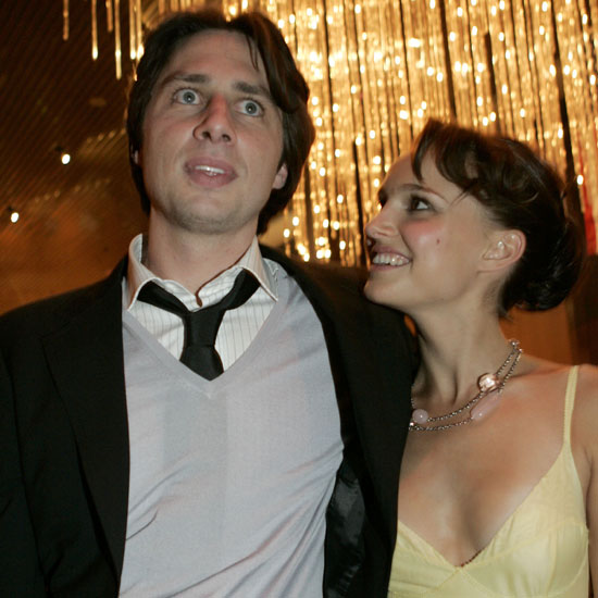 Garden State costars Zach Braff and Natalie partied in LA after the film's 2004 premiere.