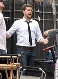 Joshua Jackson Looks Laid-Back on Set in the Big Easy