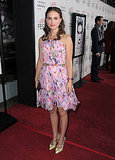 Natalie Portman in a Floral Minidress at the 2010 AFI Fest