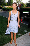 Natalie Portman in a Light-Blue Printed Dress at the 1996 MTV Movie Awards
