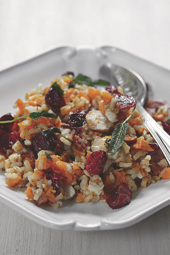 Roast Turkey With Sweet Potato, Brown Rice, and Cranberries