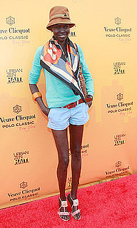 Alek Wek Wears Summer Colors