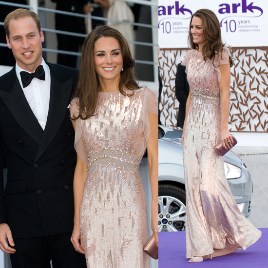 Kate Middleton in Sequin Pink Jenny Packham Dress