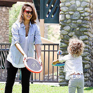 Pictures of Pregnant Jessica Alba With Cash and Honor