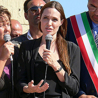 Pictures of Angelina Jolie in Italy