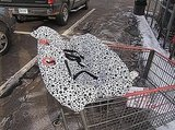 Black and White Dotted Cart Cover For Twins