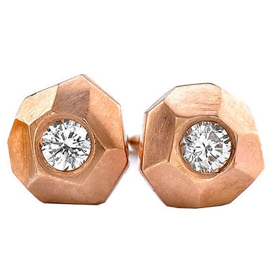 Ron Hami Rose Carved Stud Earrings, $649