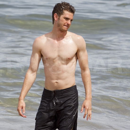 Andrew Garfield and Garrett Hedlund Break From the Film Fun For a Shirtless Swim!