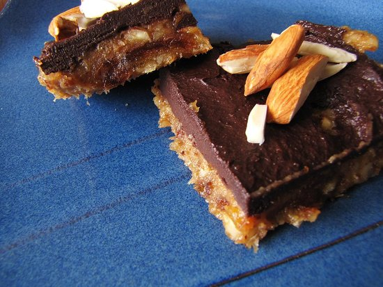 Banana Chocolate Almond Squares