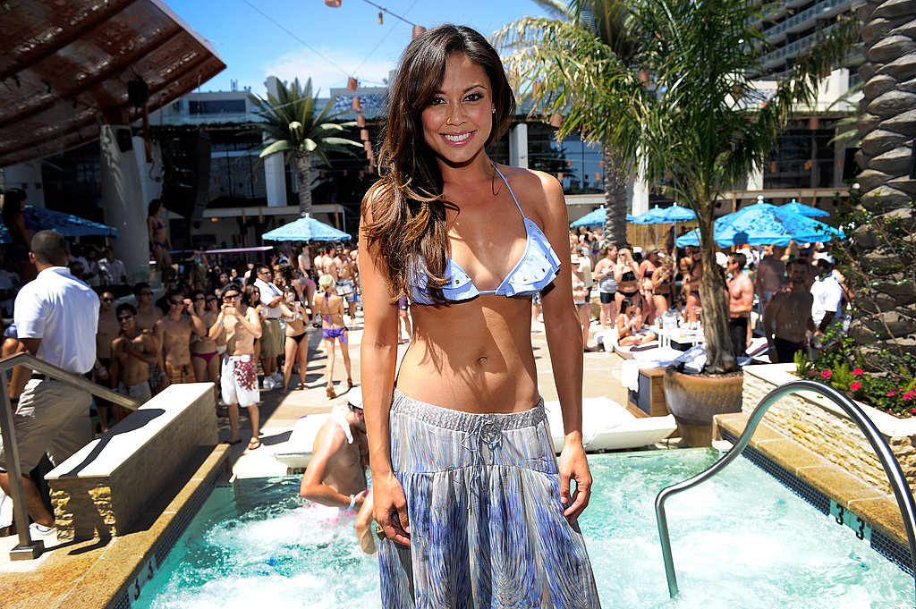 Vanessa Minnillo Celebrates Her Bachelorette Party Poolside in a Bikini