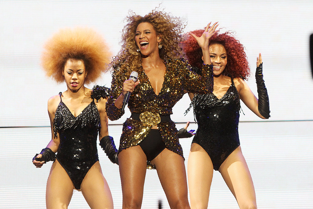 Beyonce Knowles performs at Glastonbury.